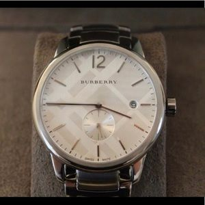Burberry Silver Watch